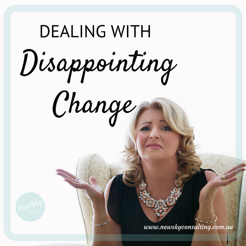 Disappointing-change